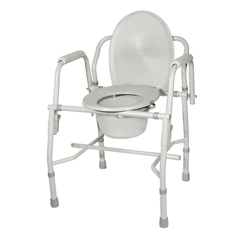 11125KD-1 - Drive MedicalSteel Drop Arm Bedside Commode with Padded Arms