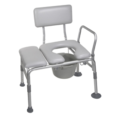 12005KDC-1 - Drive MedicalPadded Seat Transfer Bench with Commode Opening