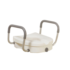 12008KDR - Drive MedicalRaised Toilet Seat with Removable Padded Arms