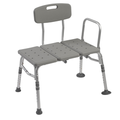 12011KD-1 - Drive MedicalPlastic Transfer Bench with Adjustable Backrest