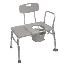 12011KDC-1 - Drive MedicalCombination Plastic Transfer Bench with Commode Opening