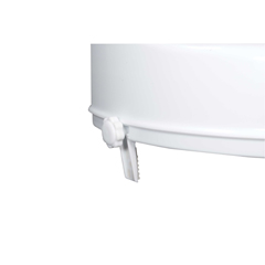12065 - Drive Medical - Raised Toilet Seat with Lock and Lid, Standard Seat, 4