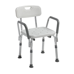 DRV12445KD-1 - Drive MedicalKnock Down Bath Bench with Back and Padded Arms