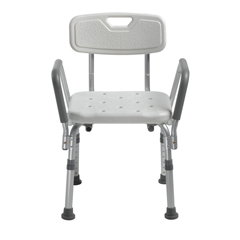 DRV12445KD-1 - Drive Medical - Knock Down Bath Bench with Back and Padded Arms