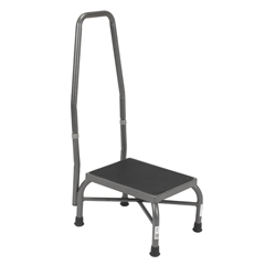 13062-1SV - Drive Medical - Heavy Duty Bariatric Footstool with Non Skid Rubber Platform and Handrail