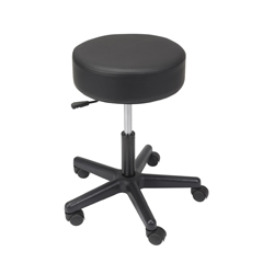 13079 - Drive MedicalPadded Seat Revolving Pneumatic Adjustable Height Stool w/Plastic Base