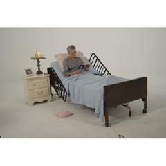 15030BV-HR - Drive Medical - Delta Ultra Light Semi Electric Hospital Bed with Half Rails