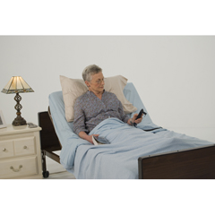15030BV-PKG - Drive MedicalDelta Ultra Light Semi Electric Hospital Bed with Full Rails and Innerspring Mattress