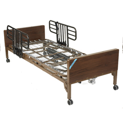 15033BV-HR - Drive Medical - Delta Ultra Light Full Electric Hospital Bed with Half Rails