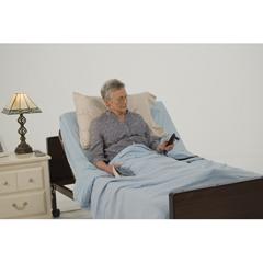 15033BV-PKG - Drive MedicalDelta Ultra Light Full Electric Hospital Bed with Full Rails and Innerspring Mattress