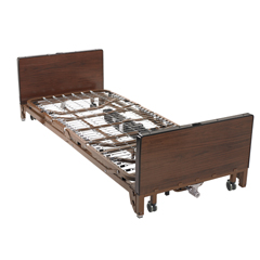 15235BV-PKG - Drive MedicalDelta Ultra Light Full Electric Low Hospital Bed with Full Rails and Innerspring Mattress