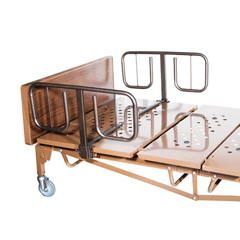 DRV15302BV-PKG - Drive Medical - Full Electric Heavy Duty Bariatric Hospital Bed, with Mattress and 1 Set of T Rails