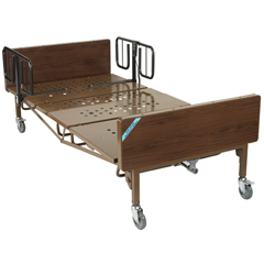 15303BV-1HR - Drive Medical - Full Electric Super Heavy Duty Bariatric Hospital Bed with 1 Set of T Rails