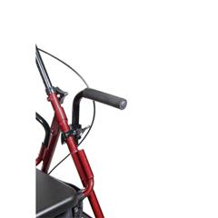 795BU - Drive Medical - Duet Dual Function Transport Wheelchair Walker Rollator, Burgundy