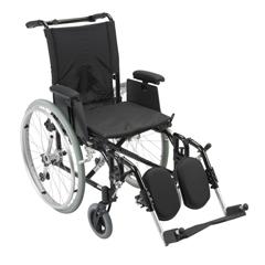 AK516ADA-AELR - Drive MedicalCougar Ultra Lightweight Rehab Wheelchair w/Detachable Adjustable Desk Arms & Elevating Leg Rest