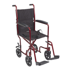 ATC17-RD - Drive MedicalLightweight Transport Wheelchair