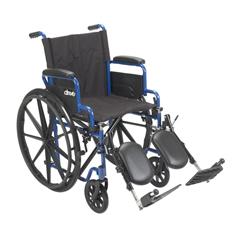 BLS16FBD-ELR - Drive MedicalBlue Streak Wheelchair w/Flip Back Desk Arms & Elevating Leg Rests, 1EA/CS