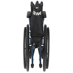 BLS16FBD-SF - Drive MedicalBlue Streak Wheelchair with Flip Back Desk Arms, Swing Away Footrests, 16 Seat