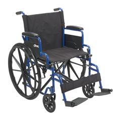 BLS18FBD-SF - Drive MedicalBlue Streak Wheelchair with Flip Back Desk Arms