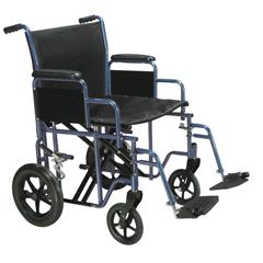 BTR22-B - Drive MedicalBariatric Heavy Duty Blue Transport Wheelchair w/Swing Away Footrest, 1EA/CS