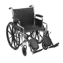CS16DDA-ELR - Drive MedicalChrome Sport Wheelchair w/Detachable Desk Arms & Elevating Leg Rest