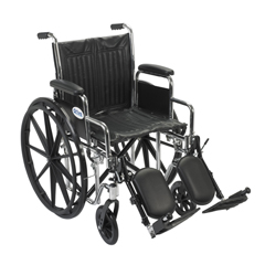 CS18DDA-ELR - Drive MedicalChrome Sport Wheelchair