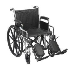 CS20DDA-ELR - Drive MedicalChrome Sport Wheelchair