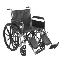 CS20DFA-ELR - Drive MedicalChrome Sport Wheelchair