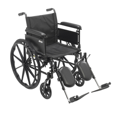 DRVCX420ADFA-ELR - Drive MedicalCruiser X4 Lightweight Dual Axle Wheelchair with Adjustable Detatchable Arms