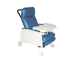 D574EW-BR - Drive Medical - 3 Position Heavy Duty Bariatric Geri Chair Recliner, Blue Ridge