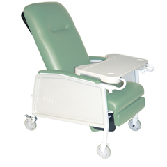 D574EW-J - Drive Medical3-Position Heavy Duty Bariatric Geri Chair Recliner, Jade