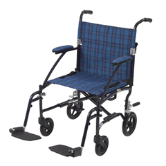 DFL19-BL - Drive MedicalFly Lite Ultra Lightweight Transport Wheelchair, Blue