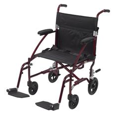 DFL19-RD - Drive MedicalFly Lite Ultra Lightweight Transport Wheelchair