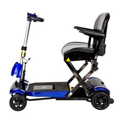 DRVFLEX-AUTO - Drive Medical - ZooMe Auto-Flex Folding Travel Scooter, Blue