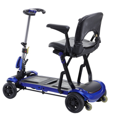DRVFLEX - Drive Medical - ZooMe Flex Ultra Compact Folding Travel 4 Wheel Scooter, Blue