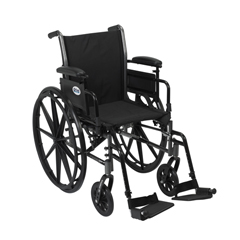 K316ADDA-SF - Drive MedicalCruiser III Light Weight Wheelchair with Flip Back Removable Arms