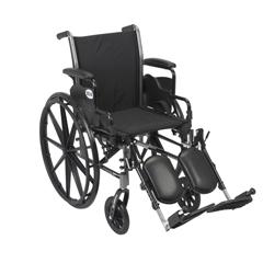 K316DDA-ELR - Drive MedicalCruiser III Lightweight Wheelchair w/Flip Back Removable Desk Arms & Elevating Leg Rest
