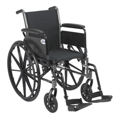 K318DFA-SF - Drive MedicalCruiser III Light Weight Wheelchair with Flip Back Removable Arms
