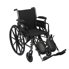 K320ADDA-ELR - Drive MedicalCruiser III Light Weight Wheelchair with Flip Back Removable Arms