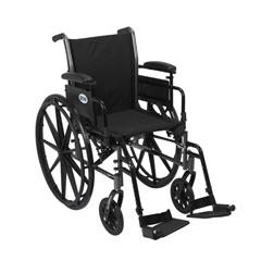 K320ADDA-SF - Drive MedicalCruiser III Lightweight Wheelchair w/Flip Back Removable Adjustable Desk Arms & Swing Away Footrest