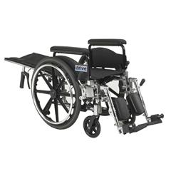 PLA418RBDFA - Drive Medical - Viper Plus GT Full Reclining Wheelchair, Detachable Full Arms, 18 Seat