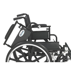 PLA420FBDAARAD-ELR - Drive Medical - Viper Plus GT Wheelchair with Flip Back Removable Adjustable Desk Arms, Elevating Leg Rests, 20 Seat
