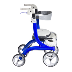 DRVRTL10266BL-HS - Drive Medical - Nitro DLX Euro Style Walker Rollator, Sleek Blue