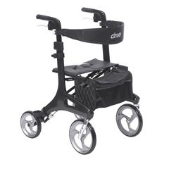 DRVRTL10266CF - Drive MedicalNitro Elite CF Carbon Fiber Walker Rollator, Black