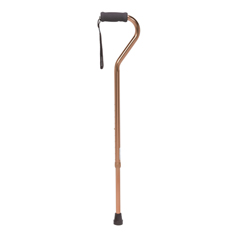 RTL10307 - Drive Medical - Foam Grip Offset Handle Walking Cane, Bronze