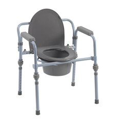 RTL11148KDR - Drive MedicalFolding Bedside Commode with Bucket and Splash Guard