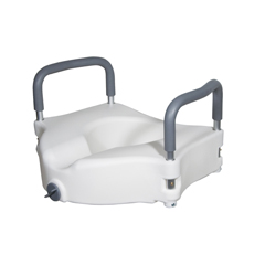 RTL12027RA - Drive MedicalElevated Raised Toilet Seat with Removable Padded Arms