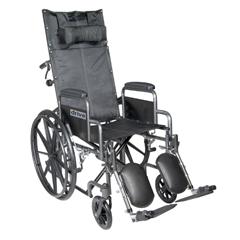 SSP16RBDDA - Drive MedicalSilver Sport Reclining Wheelchair with Elevating Leg Rests