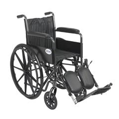 SSP218FA-ELR - Drive MedicalSilver Sport 2 Wheelchair