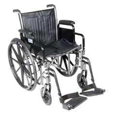 SSP220DDA-SF - Drive MedicalSilver Sport 2 Wheelchair